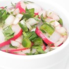 Christmas (Red, White and Green) Salsa - Red, white, and green salsa is a very festive addition to Christmas parties and can also be made all year for different events.