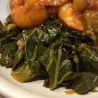 Sweet and Tangy Sauteed Collard Greens - Leafy collard greens, served warm with a tangy honey, ginger and balsamic vinegar dressing, make a delicious and nutritious vegetarian side dish or salad.