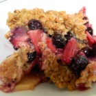 Blueberry-Apple Crunch - This blueberry-apple crunch is a simple dessert that only cooks for 10 minutes in the microwave for a quick, hearty treat.