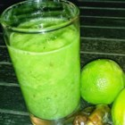 Basil Limeade - Basil limeade made with grapes, dates, and plenty of basil is a refreshing green smoothie to help energize you in the morning.