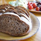 Montana Russian Black Bread - Black bread, made with dark beer, coffee, molasses, and caraway seed, is a hearty Russian-inspired bread perfect for toast, sandwiches, or alongside soup.