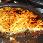 Moussaka Cottage Pie - One nice feature of this dish is that you can cook and bake the pie in the same skillet.