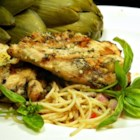 Lemon Basil Grilled Chicken - Tart, fresh marinade livens up simple grilled chicken.