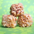 Grandma Mottle's Blarney Stones - Blarney Stones, pound cake cubes dipped in frosting and rolled in dry roasted peanuts, are the perfect St. Patrick's Day treat.