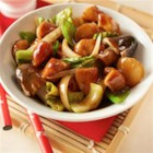 Asian Bok Choy Stir Fry - Straw mushrooms, snow peas and bok choy make this an authentically Asian stir-fry my family will love!