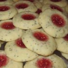 Cherry Poppyseed Twinks - A great poppy seed version of the thumbprint cookie.