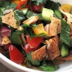 Authentic Lebanese Fattoush - This recipe uses two unusual ingredients: sumac and purslane. I find them at farmer's markets. Fattoush is a Lebanese salad, good for hot weather.