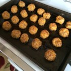Carla's Sausage Cheese Balls - Cheesy sausage meatballs make a delicious holiday appetizer.