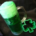 Green Beer - It's so easy and fun to give your beer a bright green color for St. Patrick's Day.