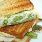 Grilled Turkey Asparagus Pesto Paninis - Grilled turkey and asparagus sandwiches with plenty of homemade pesto are quick to prepare and perfect for summer evenings.