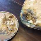 Thanksgiving Leftover Casserole - Turkey, mashed potatoes, cheese, a special sauce, and some little extras combine to make a tasty casserole for 'the day after'. Absolutely delicious way to use those tasty Thanksgiving leftovers.