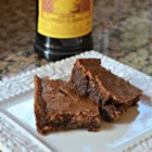 Kahlua Mocha Brownies - The addition of Kahlua in the brownie batter and the buttercream frosting provide mocha notes to these moist brownies.