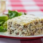 Creamy White Chicken and Artichoke Lasagne - This white lasagne is stuffed with chicken, artichokes and creamy mozzarella.
