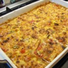 King Ranch Chicken Casserole  - The classic King Ranch chicken casserole is bursting with cheese, chicken, and pepper goodness.