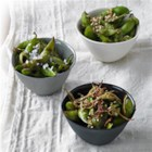 Wok Charred Edamame 3 Ways - Crave restaurant-style edamame? Soybean oil's high smoke point creates wok-charred edamame in a snap. Try all three variations!