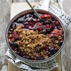 Fresh Fruit and Berry Crumble - Mix fresh fruit with kitchen pantry staples for a delicious dessert. Check the pantry for soybean oil--it's labeled vegetable oil.