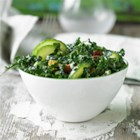 Kale and Cucumber Salad with Lemon Tahini Dressing - Make this crunchy nutrition-packed salad in a flash. Whip up a second batch of dressing and keep in the fridge to satisfy the next kale craving.