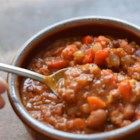 Lucie's Vegetarian Chili - With bulgur wheat, mushrooms, and plenty of tomatoes, you'd never know this is a meatless chili!