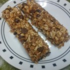 Peanut Butter Snack Bars - A sweet blend of peanut butter and honey holds together this crispy, chocolaty bar of toasted oats, cereal, wheat germ, and flax seed.