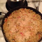 Andrew's Herb Risotto - Arborio rice simmered with onion, bell pepper, garlic and fresh herbs like mint and rosemary.