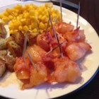 Bacon Wrapped Pineapple - Pieces of pineapple are wrapped in bacon and roasted in a sweet sauce. I started making these for family get-togethers and everyone LOVED them.  No one could eat enough of them.  I am also using them when I cater my daughter's wedding.