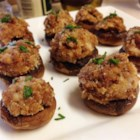 Caroline and Brian's Stuffed Mushrooms - These fantastic portobello mushrooms are stuffed with a seasoned turkey sausage and cream cheese mixture. Even those who don't usually like mushrooms will love these!