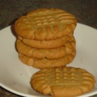Favorite Peanut Butter Cookies  - Simple peanut butter cookies with the traditional crisscross on the top.