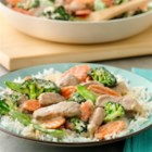 Asian Pork and Vegetable Stir-Fry - A classic skillet stir-fry simplified with a garlic cooking sauce.