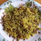Green Lentils and Rice Assyrian Style - This simple side dish of rice and lentils is the perfect accompaniment to any Middle Eastern dish.