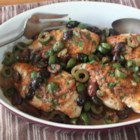 Chicken and Olives - The sharp, briny bite of olives pairs perfectly with chicken in Chef John's recipe for chicken and olives.