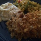 Baked Ranch Chicken - This is a simple recipe for baked chicken breasts coated in ranch dressing and bread crumbs.
