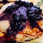 Breakfast Blueberry Sauce - Want something fruity for your pancakes or waffles? Simply run out of syrup? No worries, just cook sugar, water, and blueberries together to make a quick and easy solution.