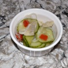 Pickled Herring and Cucumber Salad - If you like cucumber and pickled herring, here is a recipe for the combination of the two in a summertime salad.