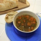 Vegetarian 15-Bean Soup - This vegetarian 15-bean soup is loaded with veggies and just the right amount of seasoning. Serve with a chunk of crusty bread.