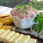 Pate - Flavorful braunschweiger liver sausage is the ideal base for this spreadable appetizer ball.