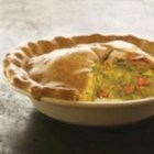 Indian Samosa Pie - This recipe uses the flavors of a samosa and the idea of a pot pie to make a savory, Indian-accented dish in a comfort-food format.