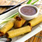 Thai Dipping Sauce - Use this recipe to make a quick Thai-style peanut satay dipping sauce with peanut butter, coconut milk, soy sauce, and ginger.