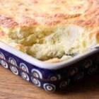 Baked Spoon Bread - Baked spoon bread made with cream and cornmeal is an old southern dish served on special occasions or holidays.