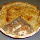 Beef and Potato Pie - Nicely seasoned beef and potatoes are baked between 2 pie crusts creating a comforting savory pie for cold evenings.