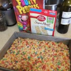 Funfetti(R) Cake Batter Rice Krispies(R) Treats - Funfetti(R) cake mix and brown butter add a new colorful twist on the classic Rice Krispies(R) treats and are perfect for any festive celebration.