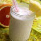 Pineapple Creamsicle(R) Smoothie - Pineapple, banana, orange, and vanilla yogurt make up this delicious pineapple Creamsicle(R) smoothie.