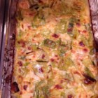 Baked Leeks - In this easy to prepare side dish, leeks are baked in a creamy low-fat cheese sauce made with skim milk.