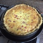 Quiche - This is an easy ham and cheese quiche that can be made ahead of time. Directions for freezing are included in the recipe.