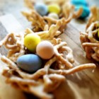 Bird's Nests III - Fill these cute nests with jellybeans, small gumdrops, chocolate-covered raisins, M&M's®, or other small candies. The kids can help fill the nests!