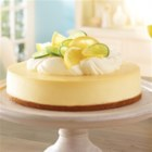 Lemon-Lime Cheesecake - Fresh lemon and lime zest and juice flavour a classic cheesecake with a graham crust.