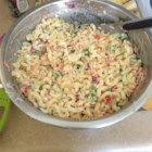 Healthier Classic Macaroni Salad - A classic picnic salad, this version is made healthier using whole wheat macaroni and less sugar.