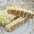 Orange Almond Biscotti I - Biscotti is an Italian cookie. It has a crunchy, buttery texture.