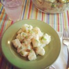 Almost Fat-Free Green Onion Potato Salad  - Chef John's quick-and-easy green onion potato salad passes by mayonnaise in favor of yogurt and garlic with a touch of mustard.