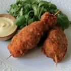 Chef John's City Chicken  - Fry yourself a little American history with Chef John's recipe for city chicken: pork shaped like a chicken drumstick on a skewer, breaded, and fried.