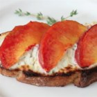 Peach and Goat Cheese Tartine - Taste summer on a slice of bread with Chef John's recipe for peach and goat cheese tartine.